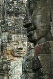 Caras de Angkor Fotos de archivo libres de regalías