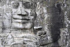 Caras de Buddha en el templo de Bayon Foto de archivo libre de regalías