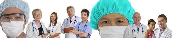 Caras de la bandera médica de la medicina moderna Fotografía de archivo libre de regalías
