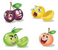 Caras de la fruta ilustración del vector
