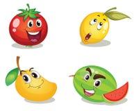 Caras de la fruta Foto de archivo