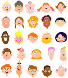 Caras de la gente Fotos de archivo libres de regalías