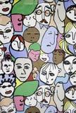 Caras de la gente libre illustration