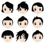 Caras de la historieta Foto de archivo