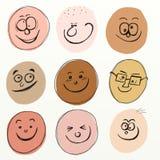 Caras de la historieta Imagen de archivo