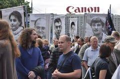 Caras de la revolución rusa Imagenes de archivo