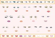 Caras de las mujeres Imagen de archivo