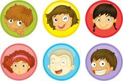 Caras de los cabritos Foto de archivo libre de regalías