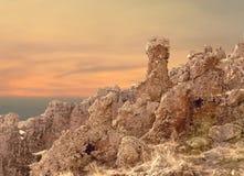 Caras de pedra naturais Imagem de Stock Royalty Free