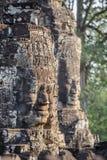 Caras de pedra no templo do bayon em Siem Reap, cambodia 3 fotos de stock