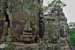 Caras de piedra del templo de Bayon, Siemreap, Camboya imagen de archivo libre de regalías