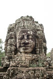 Caras de piedra gigantes en Prasat Bayon, Angkor Wat Imagenes de archivo