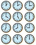 Caras de reloj Imágenes de archivo libres de regalías