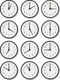 Caras de reloj del vector Foto de archivo