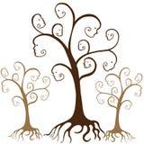 Caras del árbol de familia ilustración del vector