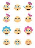 Caras del bebé Fotos de archivo libres de regalías