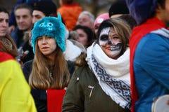 Caras del carnaval fotos de archivo