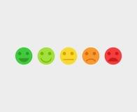 Caras del emoji del concepto del vector de la reacción stock de ilustración