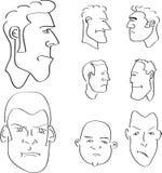 Caras del esquema del hombre Fotografía de archivo