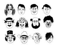 Caras del hombre Foto de archivo