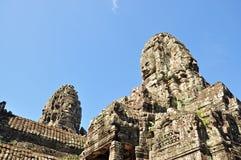 Caras del templo de Bayon Imagenes de archivo