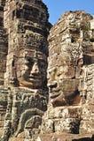 Caras del templo de Bayon Imagen de archivo