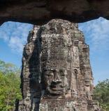 Caras del templo de Bayon, Angkor, Camboya Foto de archivo