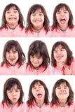 Caras divertidas Fotografía de archivo