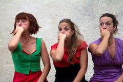 Caras divertidas de bailarines Imagen de archivo libre de regalías