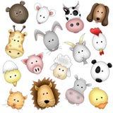 Caras divertidas de los animales ilustración del vector