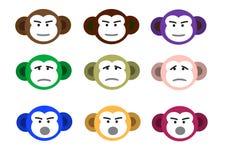 Caras do macaco Imagem de Stock