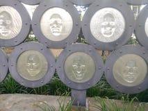Caras do monumento Nova Orleães Louisiana dos assistente foto de stock royalty free