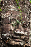 Caras do templo de Bayon em Angkor Thom, Siemreap, Camboja fotografia de stock royalty free