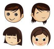 Caras dos desenhos animados Imagem de Stock Royalty Free