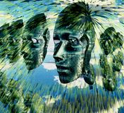 Caras electrónicas Fotos de archivo libres de regalías