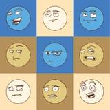 Caras emocionales Foto de archivo libre de regalías