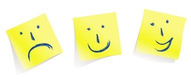 Caras emocionales:-):- (: - D /vector Fotos de archivo libres de regalías