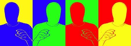 Caras en blanco Foto de archivo