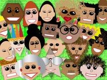 Caras en la muchedumbre Libre Illustration