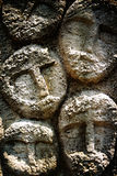 Caras en piedra Fotos de archivo libres de regalías