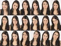 Caras enojadas y que se preguntan Fotos de archivo libres de regalías