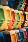 Caras, escultura en Aveiro, Portugal Imagen de archivo
