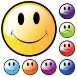 Caras felices e infelices Imágenes de archivo libres de regalías