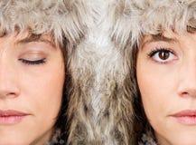 Caras femeninas de la belleza Imagen de archivo libre de regalías
