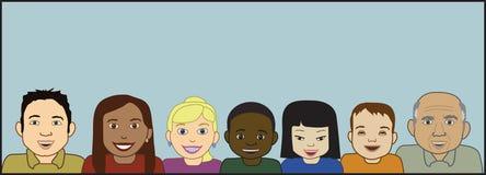 Caras multiculturales Fotografía de archivo libre de regalías