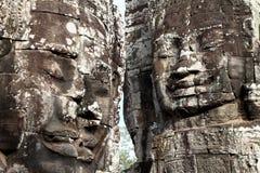 Caras na cuba de Angkor, Camboja Foto de Stock