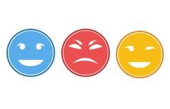Caras o sistema sonrientes del avatar Fotografía de archivo
