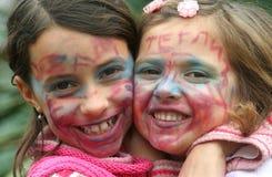 Caras pintadas Imagen de archivo libre de regalías