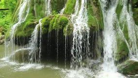 Bigar Waterfall,Caras-Severin County, Anina Mountains, Romania stock video
