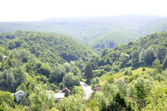 CARAS-SEVERIN,JUNE 13:Semenic Mountain Resort from Caras-Severin County in Romania royalty free stock photos